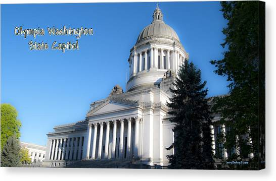 Capitol Canvas Print by Larry Keahey