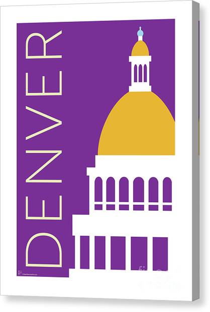 Denver Capitol/purple Canvas Print