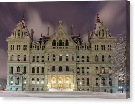 Capitol Snow Canvas Print