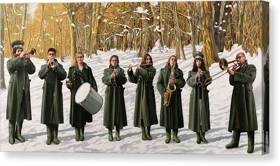 Percussion Instruments Canvas Print - Cappotto Per Otto by Guido Borelli