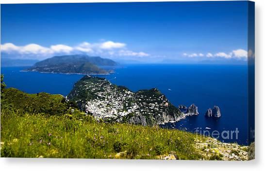 Capri Canvas Print by Alessandro Giorgi Art Photography