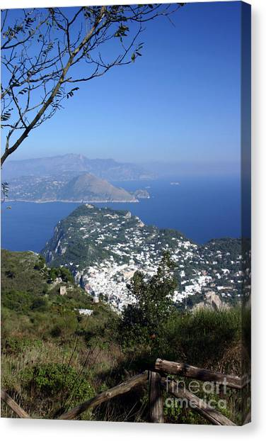 Capri At The Top Canvas Print by Dennis Curry