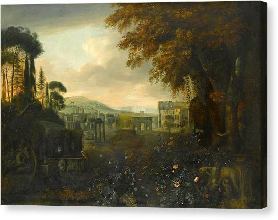 The Forum Canvas Print - Capriccio Of The Forum by MotionAge Designs