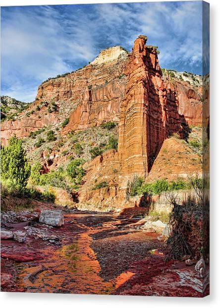 Caprock Canyon Cliff Canvas Print