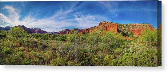 Caprock Canyon Panorama 2 Canvas Print