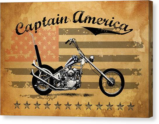 Choppers Canvas Print - Captain America by Mark Rogan