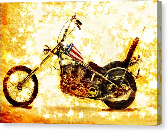 Dennis Hopper Canvas Print - Captain America by Russell Pierce