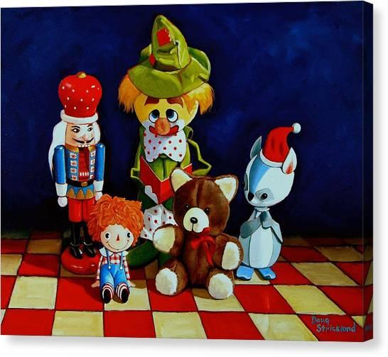 Captain Candycorns Dollhouse Choir Canvas Print by Doug Strickland