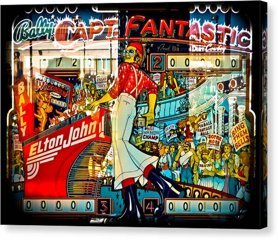 Elton John Canvas Print - Captain Fantastic - Pinball by Colleen Kammerer