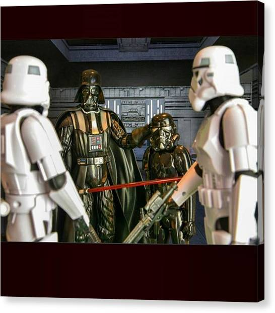 Stormtrooper Canvas Print - captain I Have A Concern With The New by Russell Hurst