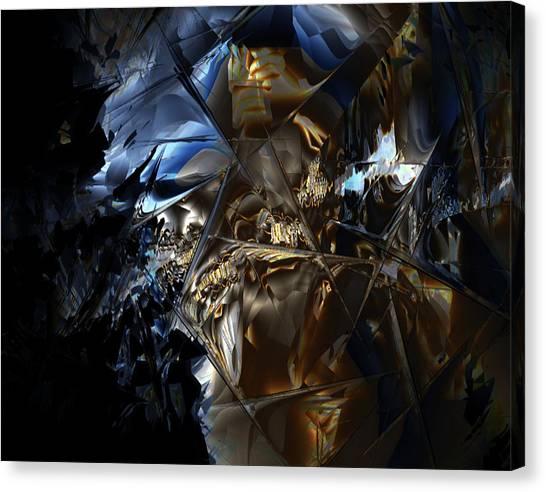 Canvas Print featuring the digital art Captain Jack by Vadim Epstein