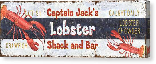 Seafood Canvas Print - Captain Jack's Lobster Shack by Debbie DeWitt