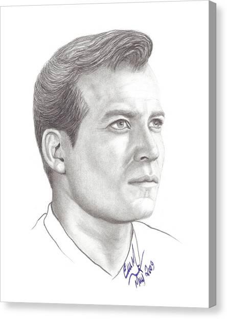 James T. Kirk Canvas Print - Captain James T. Kirk by Eve Marshall