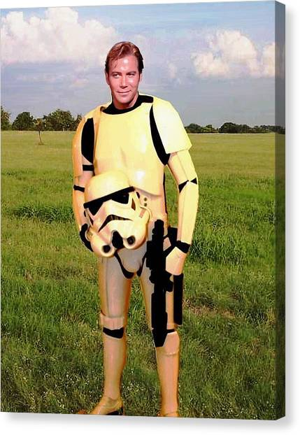 James T. Kirk Canvas Print - Captain James T Kirk Stormtrooper by Paul Van Scott