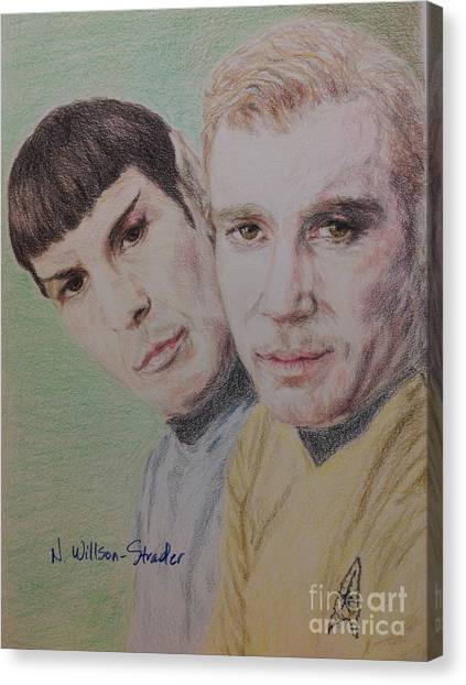 James T. Kirk Canvas Print - Captain Kirk And First Officer Spock by N Willson-Strader