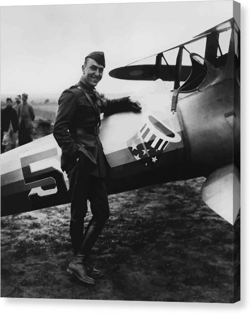 Airplanes Canvas Print - Captain Rickenbacker Painting by War Is Hell Store