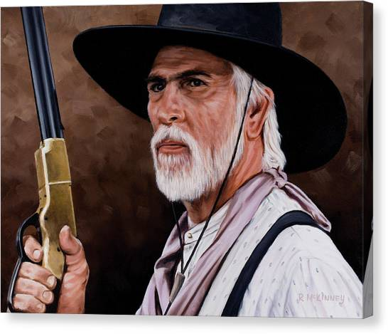 Old West Canvas Print - Captain Woodrow F Call by Rick McKinney
