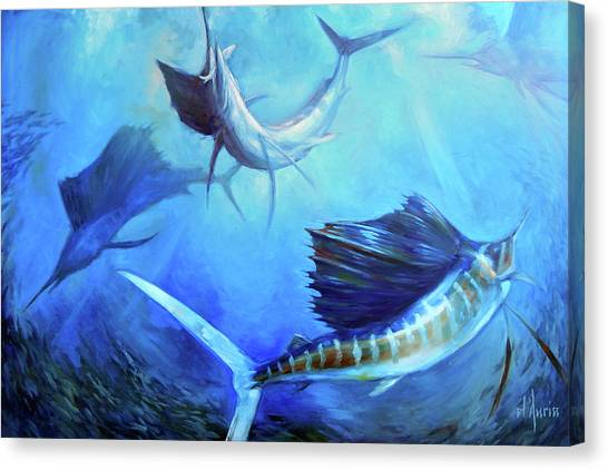 Saltwater Life Canvas Print - Captain's Dream by Tom Dauria