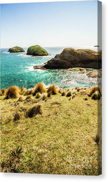 Captivating Coastal Cliff Canvas Print