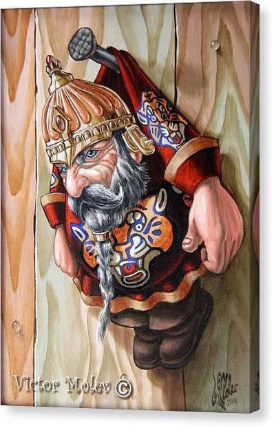 Captive Dwarf In Tiger Suit Canvas Print