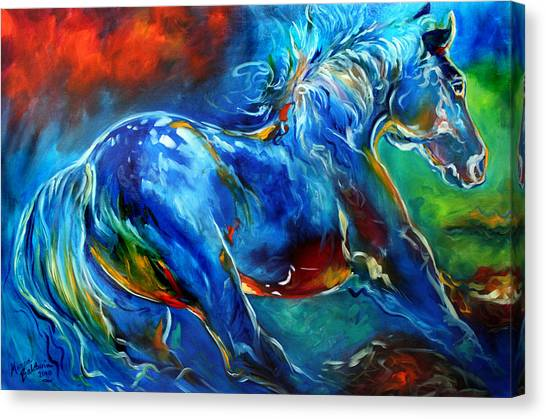 Captured Wild Stallion Canvas Print