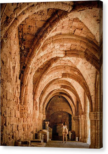 Canvas Print featuring the photograph Rhodes, Greece - Capturing The Detail by Mark Forte