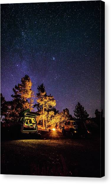 Car Camping Canvas Print