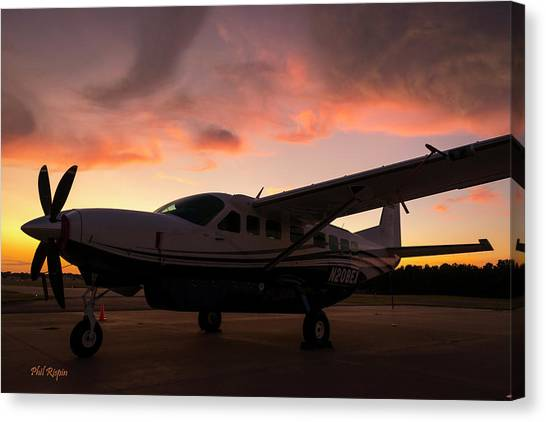 Caravan On The Ramp In The Sunset Canvas Print