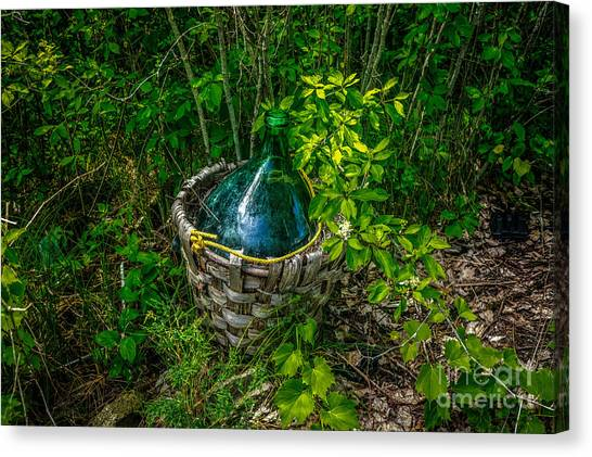 Carboy In A Basket Canvas Print