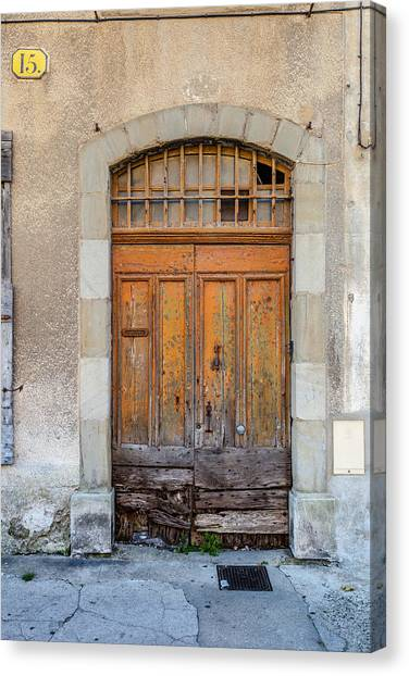 Southern France Canvas Print - Carcassone Door Number 15 by W Chris Fooshee