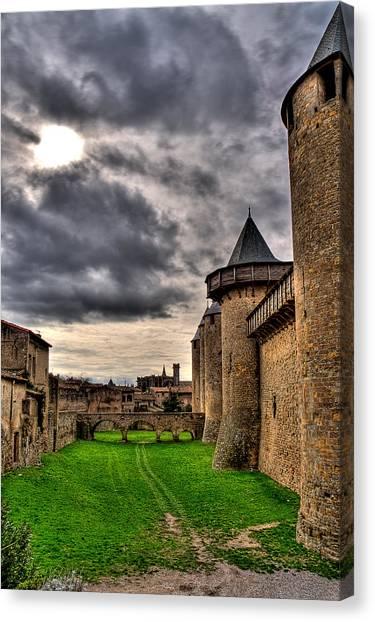 Carcassonne Castle Canvas Print by Gareth Davies