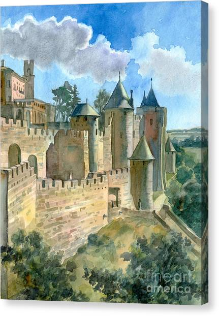 Carcassonne Canvas Print by Katia Weyher