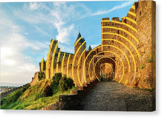 Carcassonne's Citadel, France Canvas Print