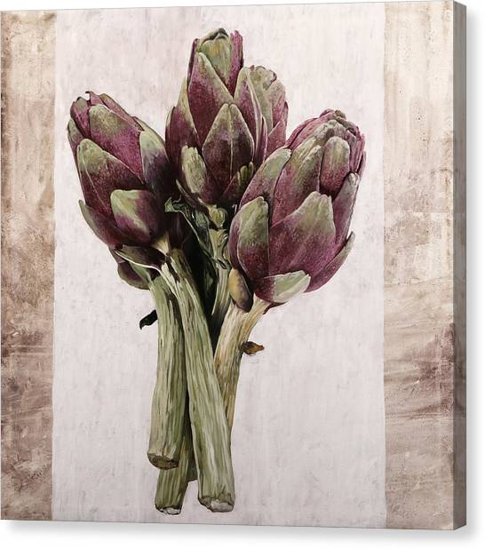 Artichoke Canvas Print - Carciofoni by Guido Borelli
