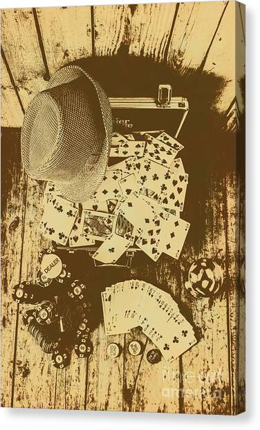 Whiskey Canvas Print - Card Games And Vintage Bets by Jorgo Photography - Wall Art Gallery