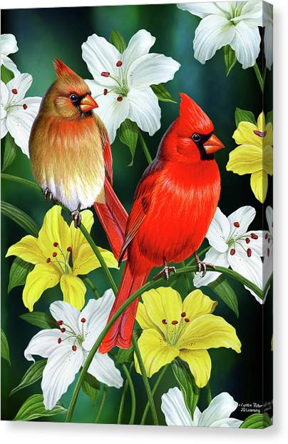 Cardinals Canvas Print - Cardinal Day 2 by JQ Licensing