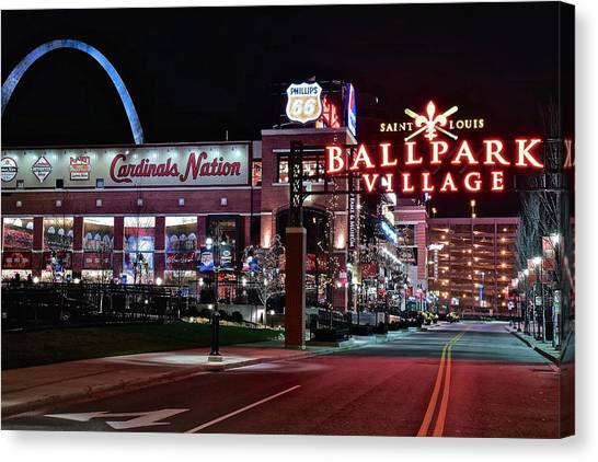 St. Louis Cardinals Canvas Print - Cardinal Nation by Frozen in Time Fine Art Photography