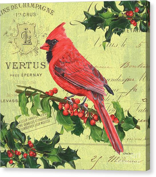 Cardinals Canvas Print - Cardinal Peace by Debbie DeWitt