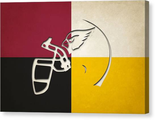 Arizona Cardinals Canvas Print - Cardinals Helmet Art by Joe Hamilton