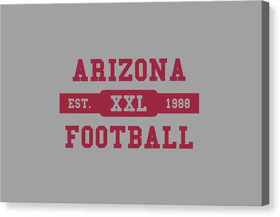 Arizona Cardinals Canvas Print - Cardinals Retro Shirt by Joe Hamilton