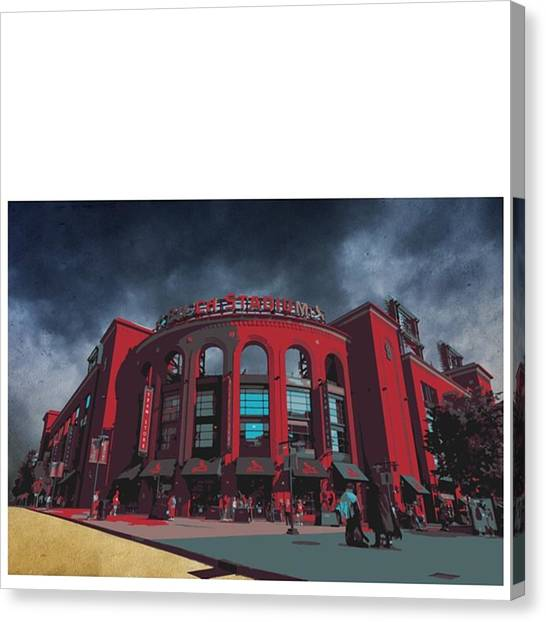Athlete Canvas Print - @cardinals @stlramscheer @carriestlouis by David Haskett II