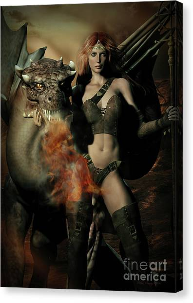 Keeper Canvas Print - Careful He Burns by Shanina Conway