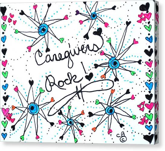 Caregivers Rock Canvas Print