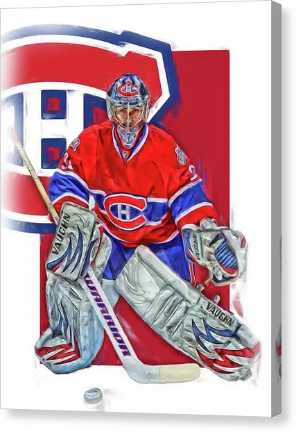 Skating Canvas Print - Carey Price Montreal Canadiens Oil Art by Joe Hamilton