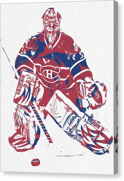 Montreal Canadiens Canvas Print - Carey Price Montreal Canadiens Pixel Art 1 by Joe Hamilton