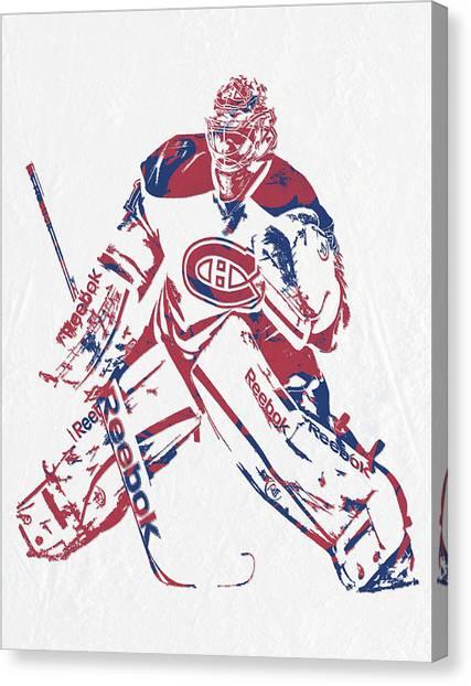 Montreal Canadiens Canvas Print - Carey Price Montreal Canadiens Pixel Art 2 by Joe Hamilton