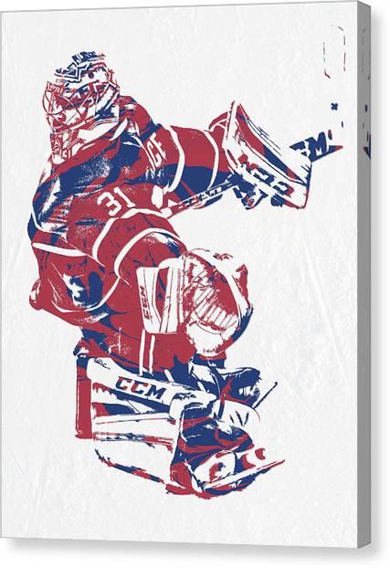 Montreal Canadiens Canvas Print - Carey Price Montreal Canadiens Pixel Art 3 by Joe Hamilton