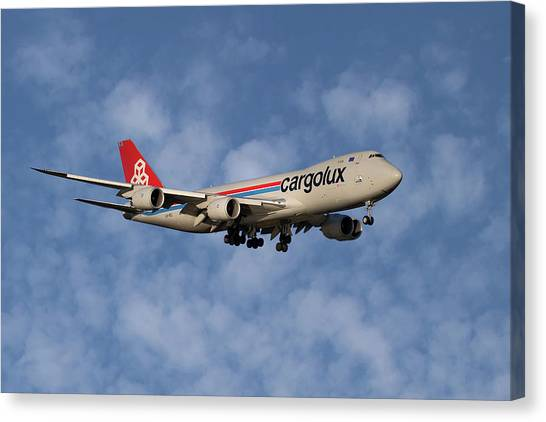 Jet Canvas Print - Cargolux Boeing 747-8r7 1 by Smart Aviation