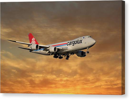 Jet Canvas Print - Cargolux Boeing 747-8r7 2 by Smart Aviation