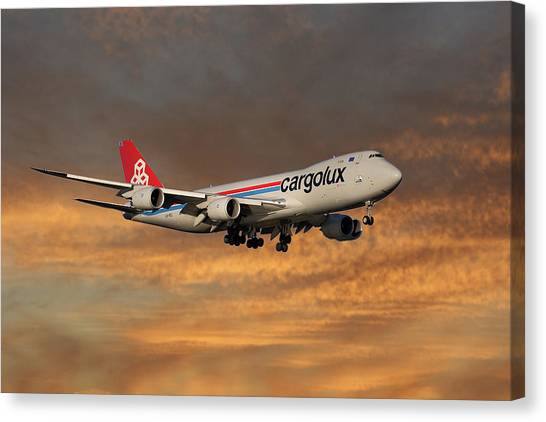 Jets Canvas Print - Cargolux Boeing 747-8r7 3 by Smart Aviation